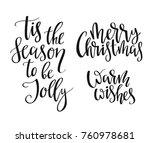 christmas letters  vector... | Shutterstock .eps vector #760978681