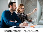 programmer working in a... | Shutterstock . vector #760978825