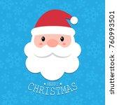 Cute Santa Claus Head With...