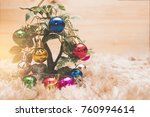 christmas colorful ball... | Shutterstock . vector #760994614