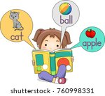 illustration of a kid girl... | Shutterstock .eps vector #760998331