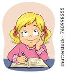 illustration of a kid girl... | Shutterstock .eps vector #760998355