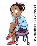 illustration of a kid girl... | Shutterstock .eps vector #760998361