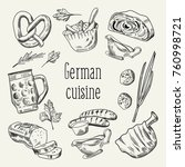 german traditional food hand... | Shutterstock .eps vector #760998721