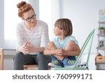 young female school... | Shutterstock . vector #760999171