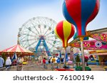 coney island  ny   april 25  ... | Shutterstock . vector #76100194