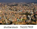 view of katmandu from the... | Shutterstock . vector #761017909