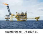 oil and gas drilling platform | Shutterstock . vector #76102411
