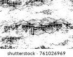 grunge black and white pattern. ... | Shutterstock . vector #761026969