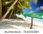 exotic island without taxes ... | Shutterstock . vector #761033284