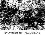 grunge black and white pattern. ... | Shutterstock . vector #761035141