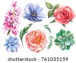watercolor hand drawing ... | Shutterstock . vector #761035159