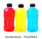 Stock photo three sports energy drinks on white 76103863