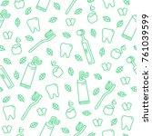 cute cartoon vector seamless...   Shutterstock .eps vector #761039599