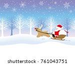 a seamless winter landscape...   Shutterstock .eps vector #761043751