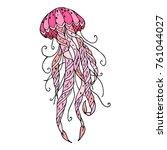 octopus icon illustration.... | Shutterstock . vector #761044027