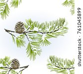 Seamless Texture Pine Tree And...