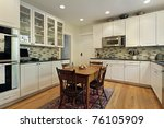 kitchen in suburban home with... | Shutterstock . vector #76105909