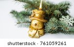 composition of a christmas tree ... | Shutterstock . vector #761059261