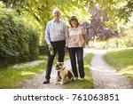 portrait of senior couple...   Shutterstock . vector #761063851