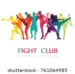 fight club. boxing vector... | Shutterstock .eps vector #761064985