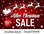 after christmas sale poster... | Shutterstock .eps vector #761075995