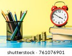 financial budget for education...   Shutterstock . vector #761076901