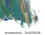 colorful oil art stroke design... | Shutterstock . vector #761078239