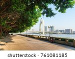 scenic embankment of the pearl...   Shutterstock . vector #761081185