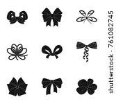 giftbows  node  ornamentals ... | Shutterstock .eps vector #761082745