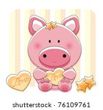 Cute Piggy With Background...