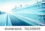 highway flyover with binary... | Shutterstock . vector #761100055
