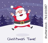 christmas greeting card of... | Shutterstock .eps vector #761101087