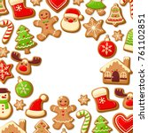 gingerbread cookies background...