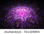 Abstract Exotic Violet Flower...