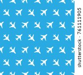 vector seamless pattern with... | Shutterstock .eps vector #761111905