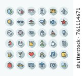 vector flat thin line icons set ...   Shutterstock .eps vector #761114671