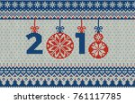 merry christmas and new year... | Shutterstock .eps vector #761117785