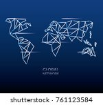 global network design concept | Shutterstock .eps vector #761123584