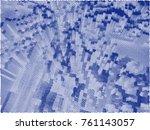 abstract vector background dot... | Shutterstock .eps vector #761143057