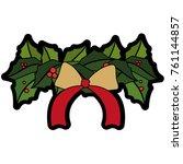 christmas flower design   Shutterstock .eps vector #761144857