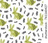 seamless scandinavian pattern.... | Shutterstock .eps vector #761160427