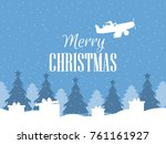 merry christmas. santa claus...   Shutterstock .eps vector #761161927