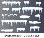 set of cartoon snow design... | Shutterstock .eps vector #761164165
