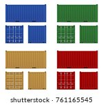 cargo container for the... | Shutterstock .eps vector #761165545