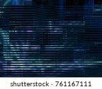 dark blue digital technology... | Shutterstock . vector #761167111
