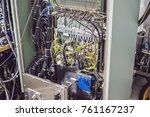control pannels of a... | Shutterstock . vector #761167237