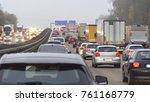 dusky road scenery on a highway ...   Shutterstock . vector #761168779