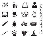 Magic Icons. Black Flat Design. ...
