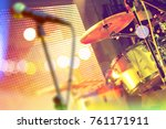 drum on stage and festive event.... | Shutterstock . vector #761171911